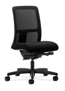 HON Ignition Low-Back Task Chair Mesh Back Confetti Black Color Armless Front Side View HITL3.N.H.M.AB10.T.SB
