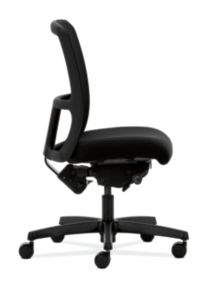 HON Ignition Low-Back Task Chair Mesh Back Confetti Black Color Armless Soft Caster Side View HITL3.N.S.M.AB10.T.SB