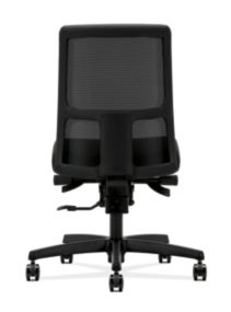 HON Ignition Low-Back Task Chair Mesh Back Confetti Black Color Armless Soft Caster Back View HITL3.N.S.M.AB10.T.SB