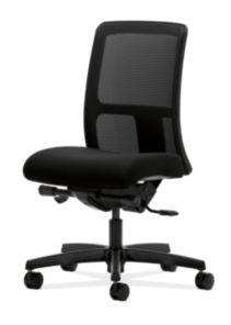 HON Ignition Low-Back Task Chair Mesh Back Confetti Black Color Armless Soft Caster Back Side View HITL3.N.S.M.AB10.T.SB