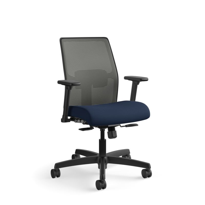 Ignition mid-back task chair, height and width adjustable arms, mesh back, T-black frame and SB Standard base