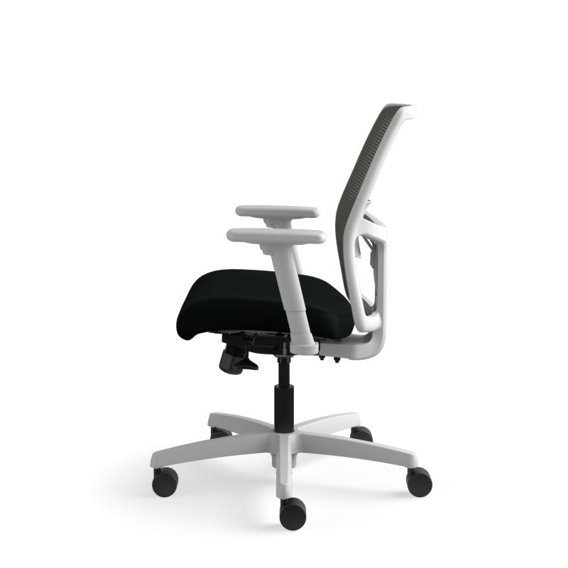 Ignition mid-back task chair, height and width adjustable arms, mesh back, TI Titanium frame and SB Standard base