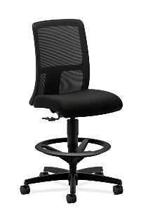 HON Ignition Low-Back Task Stool Mesh Back Confetti Black Color Armless Front Side View HITS5.N.H.M.AB10.T.SB