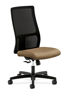 HON Ignition Mid-Back Task Chair Mesh Back Attire Sable Color Armless Front Side View HIWM1.N.H.M.AI49.T.SB