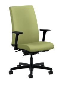 HON Ignition Mid-Back Task Chair Inertia Olivine Adjustable Arms Front Side View HIWM3.A.H.U.NR82.T.SB