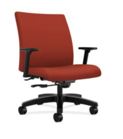 HON Ignition Big & Tall Task Chair Centurion Poppy Color Adjustable Arms Front Side View HIWM8.A.A.U.CU42.T.SB