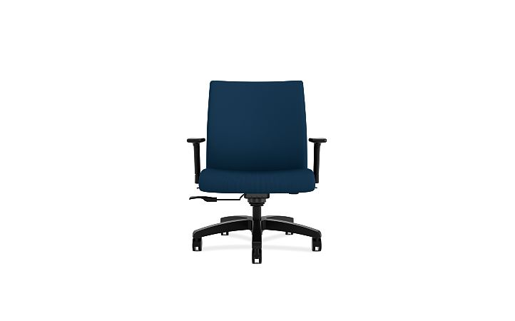 HON Ignition Big & Tall Task Chair Tectonic Mariner Adjustable Arms Front View HIWM8.A.A.U.NT90.T.SB