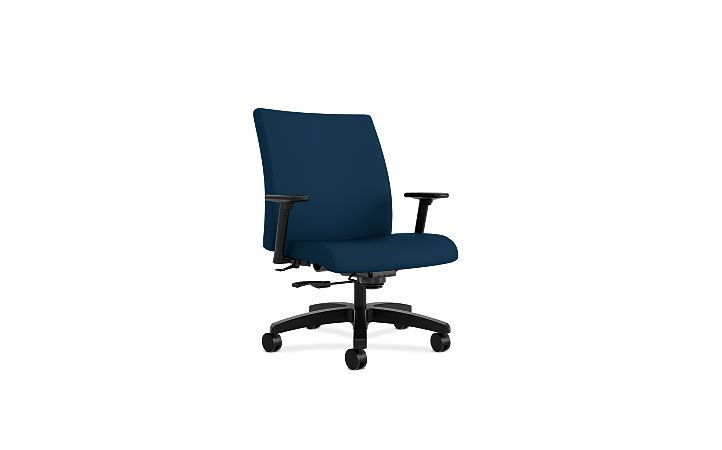 HON Ignition Big & Tall Task Chair Tectonic Mariner Adjustable Arms Front Side View HIWM8.A.A.U.NT90.T.SB