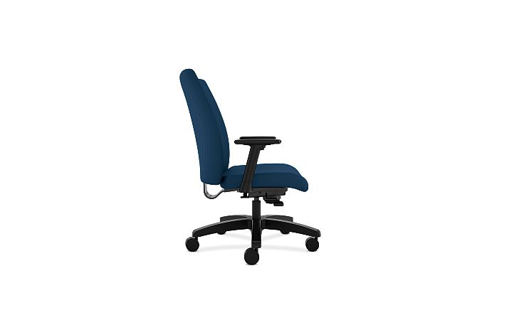HON Ignition Big & Tall Task Chair Tectonic Mariner Adjustable Arms Side View HIWM8.A.A.U.NT90.T.SB