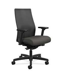 HON Ignition Mid-Back Task Chair Centurion Iron Ore Color Adjustable Arms Front Side View HIWMM.Y2.A.H.IM.CU19.AL.SB.T