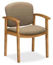 HON Invitation Guest Chair Light Brown Harvest Finish Front Side View H2111.C.BE16