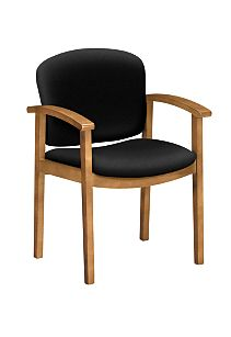 HON Invitation Guest Chair Centurion Black Harvest Finish Front Side View H2111.C.CU10
