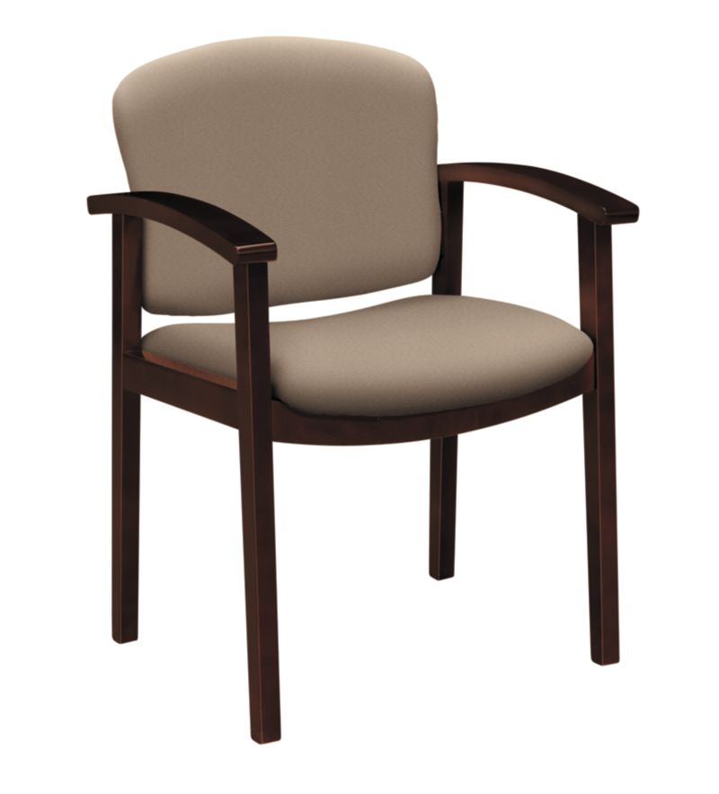 HON Invitation Guest Chair Centurion Morel Mahogany Finish Front Side View H2111.N.CU24