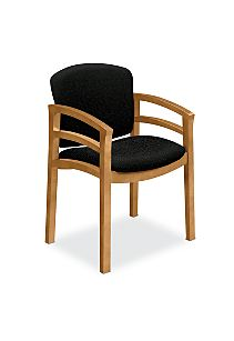 HON Invitation Guest Chair Black Harvest Finish Front Side ViewH2112.C.BE11