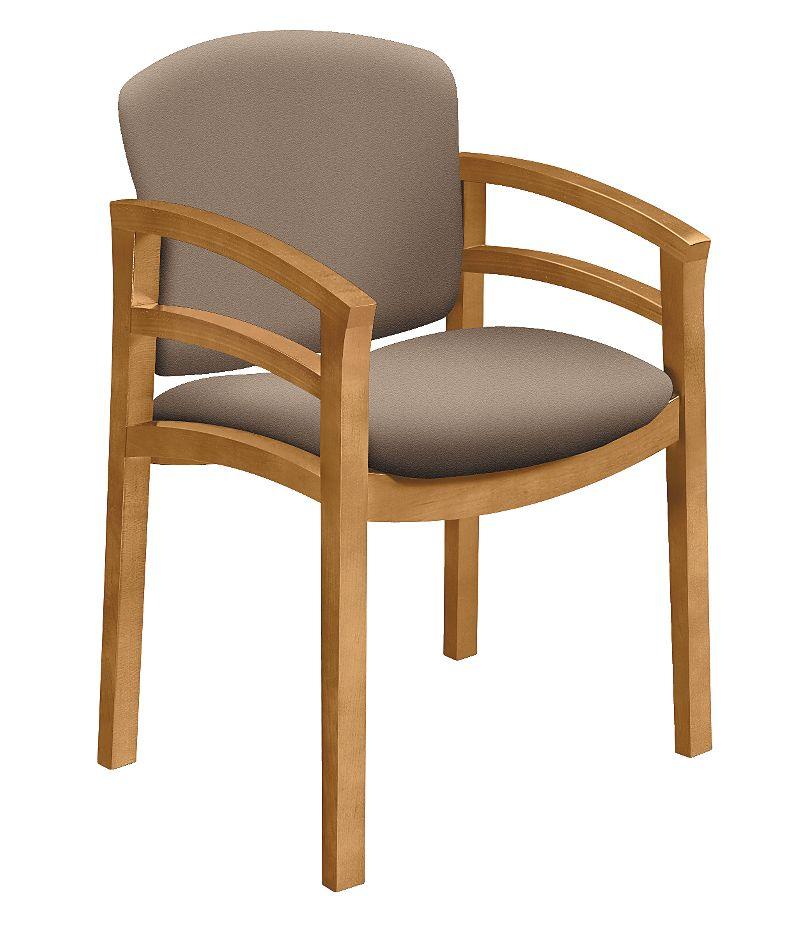 HON Invitation Guest Chair Centurion Morel Harvest Finish Front Side ViewH2112.C.CU24