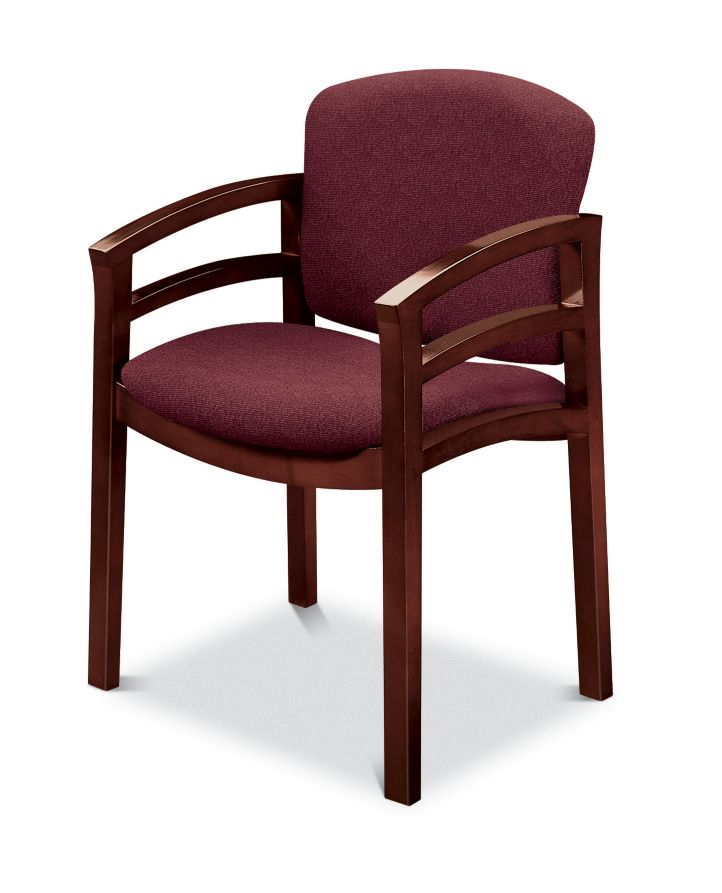 HON Invitation Guest Chair Red Mahogany Finish Front Side ViewH2112.N.BE62