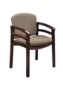 HON Invitation Guest Chair Centurion Morel Mahogany Finish Front Side ViewH2112.N.CU24