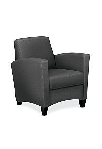HON Invitation Lounge Arm Chair Confetti Gray Color Front Side View HFAA01.AB12.T.BC