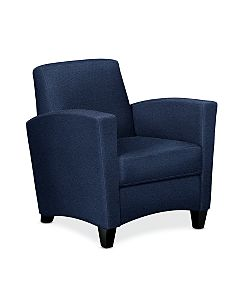 HON Invitation Lounge Arm Chair Dark Blue Color Front Side View HFAA01.BW90.T.BC