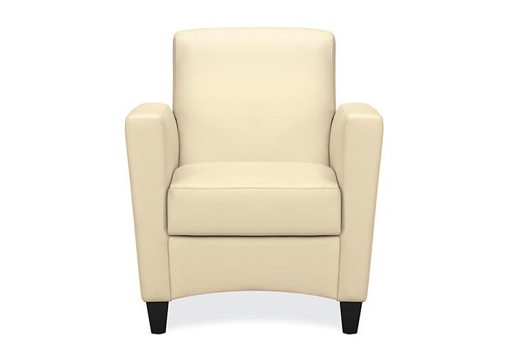 HON Invitation Lounge Arm Chair Beige Color Front View HFAA01LA.13T