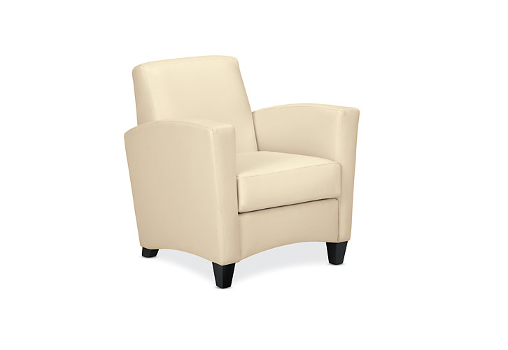 HON Invitation Lounge Arm Chair Beige Color Front Side View HFAA01LA.13T