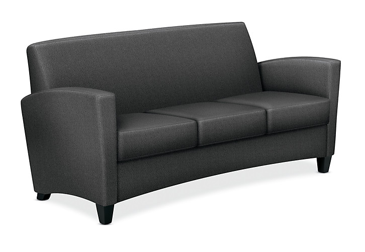 HON Invitation Lounge Sofa Confetti Gray Color Front Side View HFAS03.AB12.T.BC