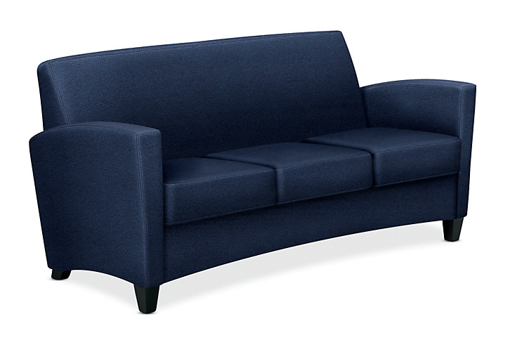 HON Invitation Lounge Sofa Dark Blue Color Front Side View HFAS03.BW90.T.BC