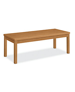 HON Laminate Occasional Tables 80000 Series Coffee Table Harvest Side View H80191.CC