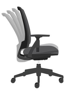 HON Lota Mesh Back Chair Black Adjustable Arms Side View H2281.VA10.T