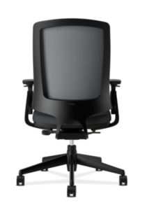 HON Lota Mesh Back Chair Black Adjustable Arms Back View H2281.VA10.T