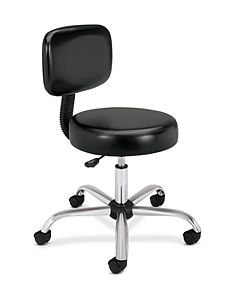 HON Medical Stool Black Front Side View HMTS11.EA11