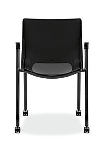 HON Motivate Stacking Chairs Black Fixed Arms Back View HMG1.F.A.ON.BLCK