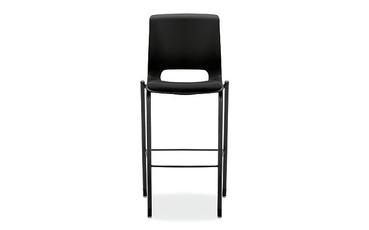 HON Motivate Cafe Height Stool Confetti Black Armless Front View HMG7.N.E.ON.AB10.BLCK