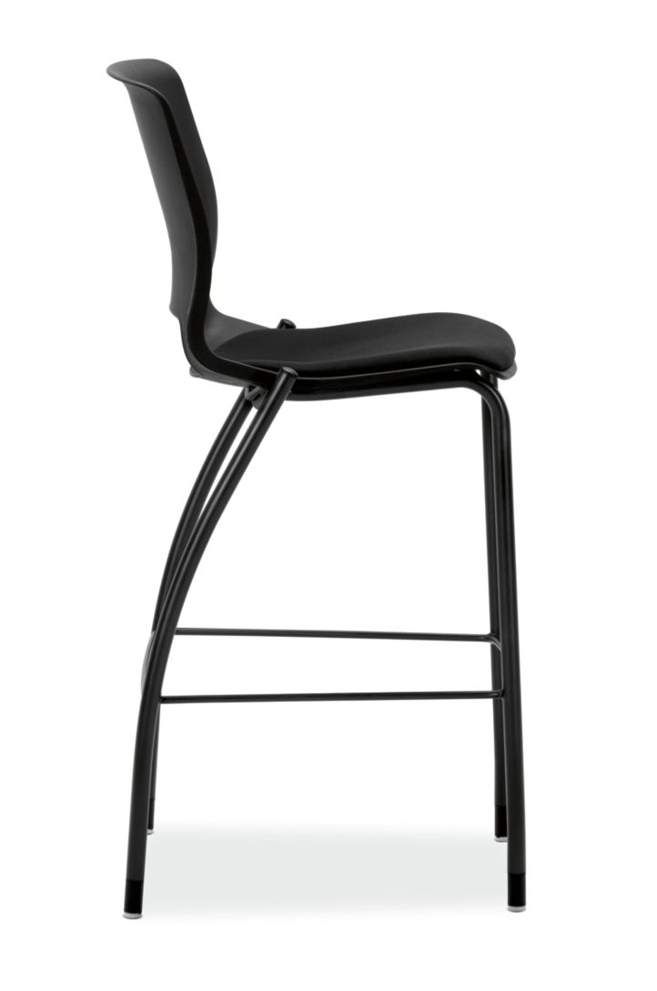HON Motivate Cafe Height Stool Confetti Black Armless Side View HMG7.N.E.ON.AB10.BLCK
