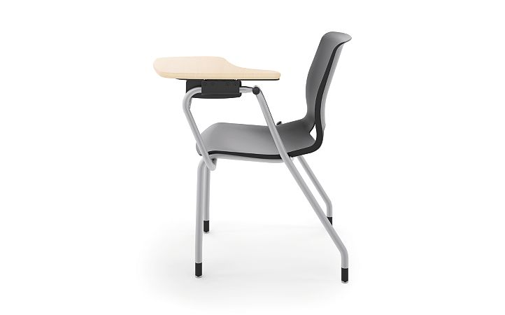 HON Motivate Tablet Arm Chair with Left-Hand Tablet Arm Black Side View HMGT1.E.ON.LT.D.PLAT