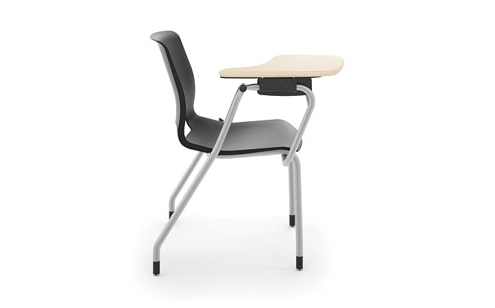 HON Motivate Tablet Arm Chair with Right-Hand Tablet Arm Black Side View HMGT1.E.ON.RT.D.PLAT
