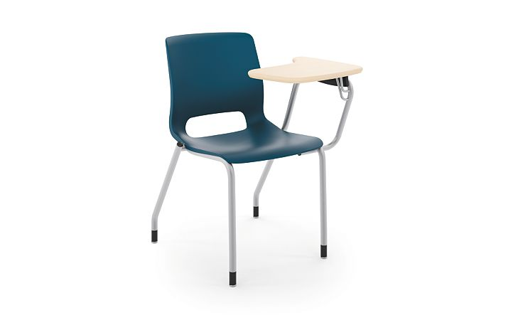 HON Motivate Tablet Arm Chair with Left-Hand Tablet Arm Blue Front Side View HMGT1.E.RE.LT.D.PLAT