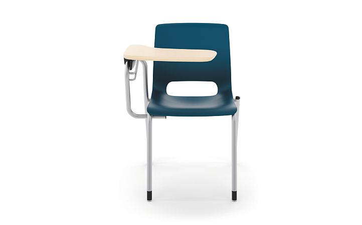HON Motivate Tablet Arm Chair with Right-Hand Tablet Arm Blue Front View HMGT1.E.RE.RT.D.PLAT