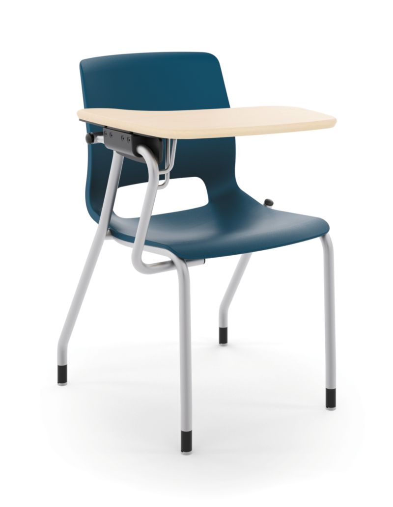 HON Motivate Tablet Arm Chair with Right-Hand Tablet Arm Blue Front Side View HMGT1.E.RE.RT.D.PLAT