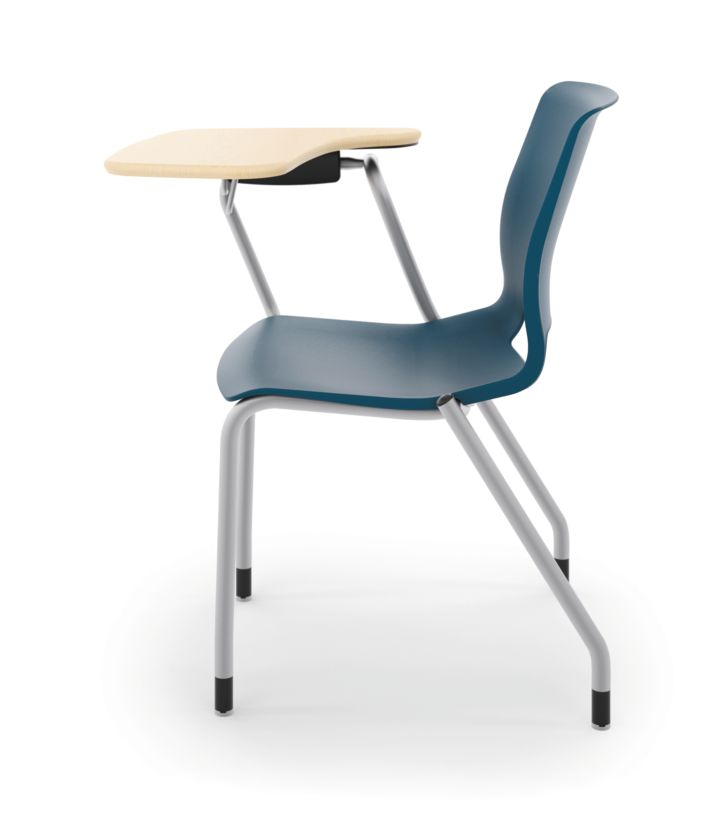 HON Motivate Tablet Arm Chair with Right-Hand Tablet Arm Blue Side View HMGT1.E.RE.RT.D.PLAT