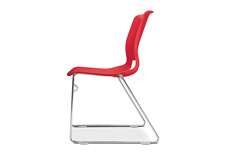 HON Motivate High-Density Stacking Chair Cherry Color Side View HMS1.N.CR.Y