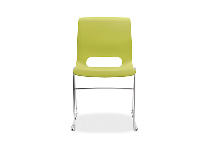 HON Motivate High-Density Stacking Chair Lime Color Front View HMS1.N.LM.Y