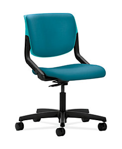 HON Motivate Task Chair Inertia Calypso Flex-Back Armless Front Side View HMT1.N.S.PB.CP.NR98.SB.T