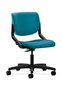 HON Motivate Task Chair Inertia Calypso Flex-Back Armless Front Side View HMT1.N.S.PB.CP.NR98.SB.T