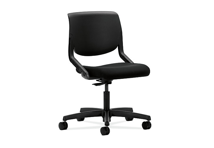 HON Motivate Task Chair Confetti Black Flex-Back Front Side View HMT1.N.S.PSON.AB10.SB.T