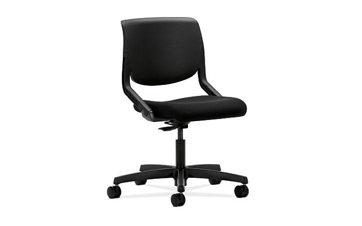 HON Motivate Task Chair Confetti Black Flex-Back Front Side View HMT1.N.S.PSON.AB10.SB.T