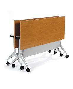 HON Motivate Rectangular Table Harvest Color Folded Front Side View HMVR-3072G-NS