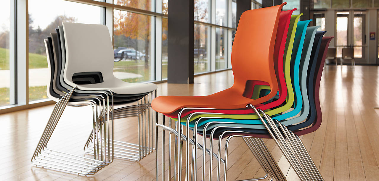 Motivate Stacking Chairs stacked together