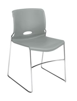 HON Olson High-Density Stacking Chair Gray Front Side View H4041.PT.Y