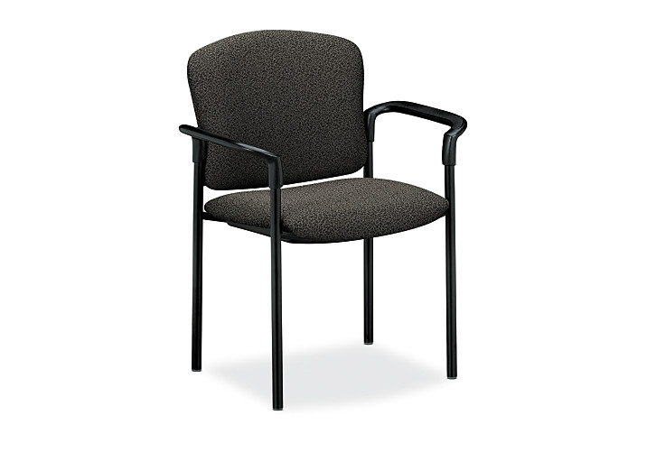 HON Pagoda Stacking Guest Chair Gray Front Side View H4071.BP19.T